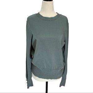 H&M Blue Long Sleeve Crew Neck Sweater Size - M